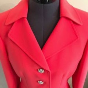 Tahari Arthur S. Levine Coral Blazer Size 4